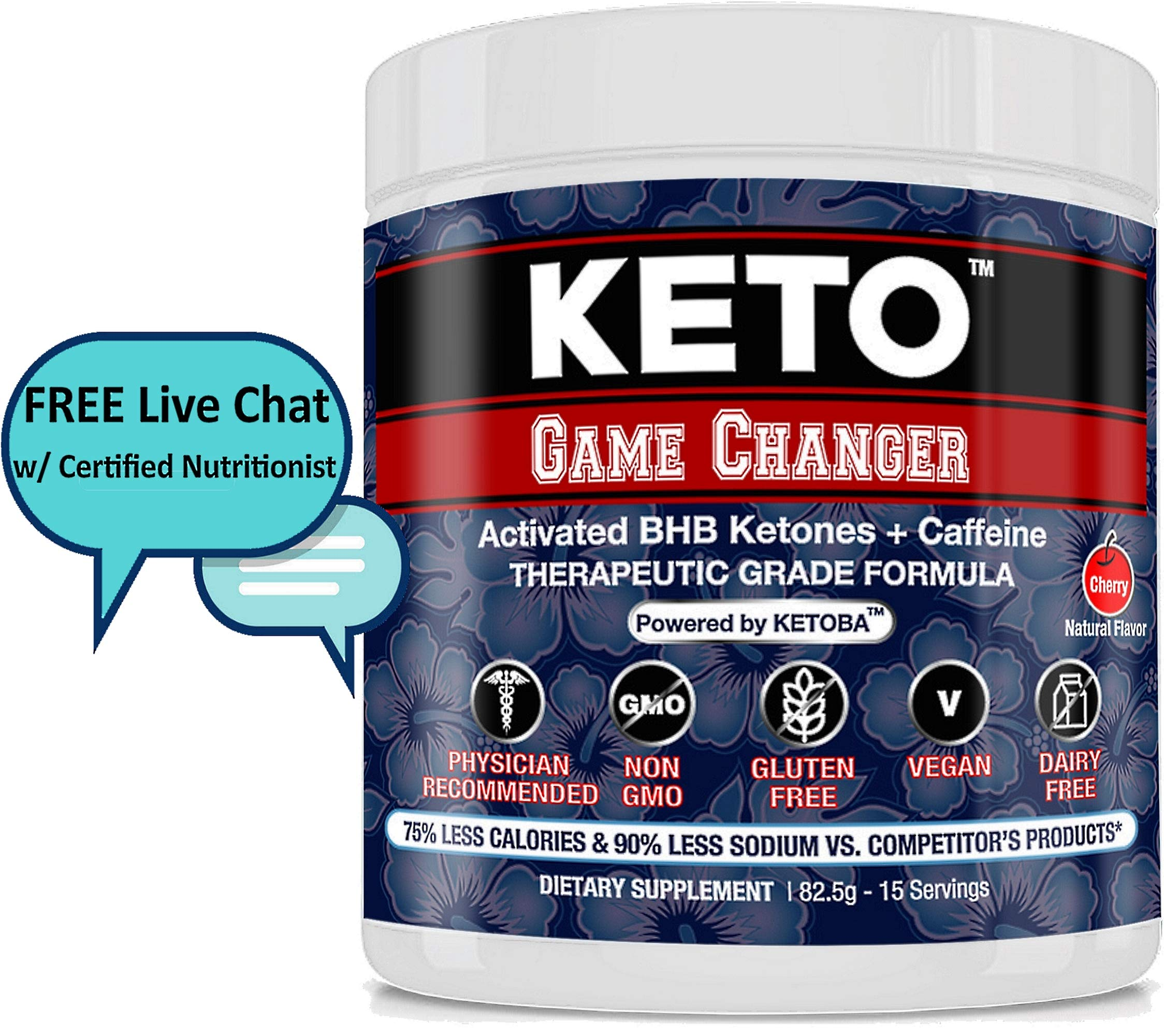 BHB KETO Diet & Pre-Workout Exogenous Ketones Powder All Natural+Free eBook&Chat: Drink/Shakes/Snack/Mix | Weight Loss/Energy/Low Carb/NO Keto Flu | Paleo,Atkin,Diabete-Ketogenic Drive,Ketosis Booster