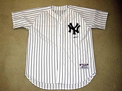 683b25fc116 Image Unavailable. Image not available for. Color  Autographed Yogi Berra  Jersey ...