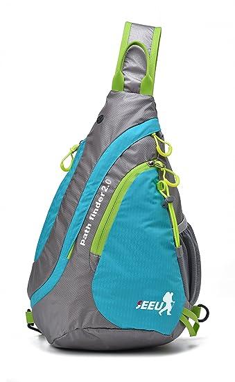 61e298b9bd SEEU Unisex Lightweight Chest Rope Bag One Strap Crossbody Shoulder Backpack