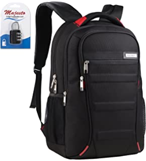 5eeab655eed5b Business Laptop Backpack for 15.6 Inch Notebook for Travel and Commute with  Bottle Holders and Lots
