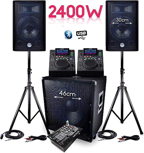 Pack sono completo bms-1812 2400 W Sub 46 cm altavoces + mesa de ...