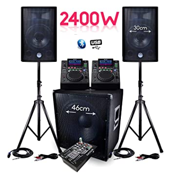 Pack sono completo bms-1812 2400 W Sub 46 cm altavoces + ...
