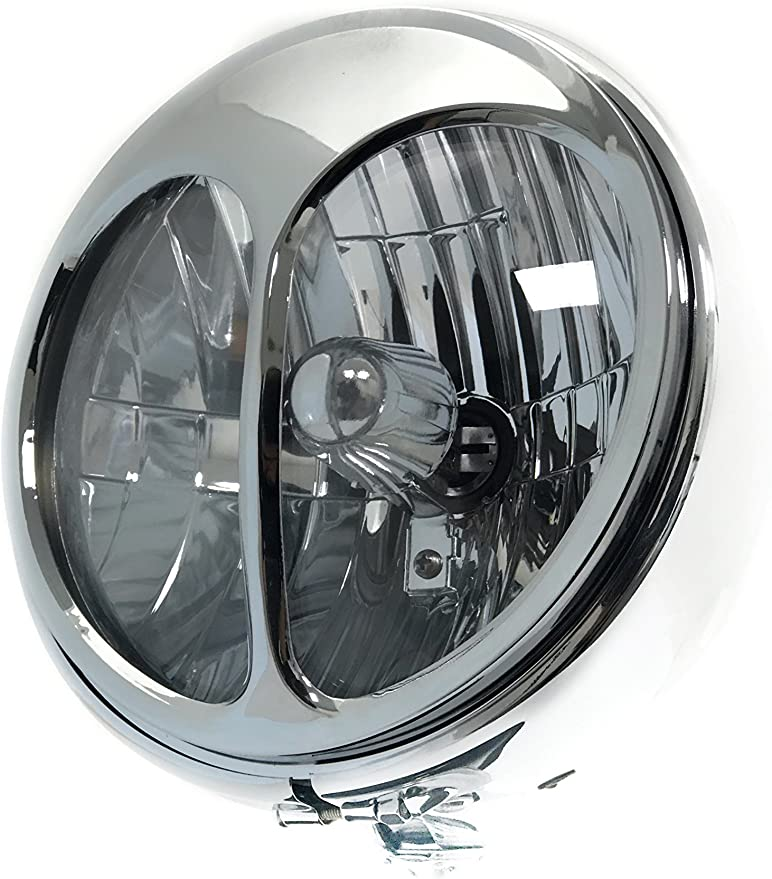 KNS Accessories 90815 Headlight Cover 5 3//4 Chrome Cat Eye Style