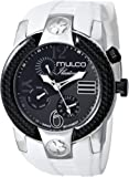 MULCO Unisex MW5-1877-015 ILUSION CRESCENT Analog Display Swiss Quartz White Watch