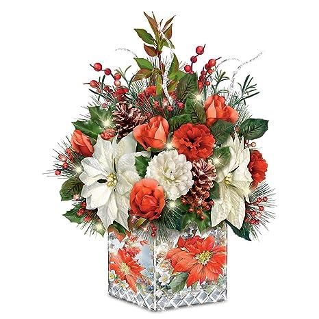 Amazon Com Lena Liu Always In Bloom Holiday Centerpiece Lights Up