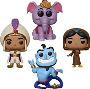 Funko Disney: Pop! Aladdin Collectors Set - Prince Ali, Jasmine in Disguise W/Chase, Elephant Abu, Genie with Lamp