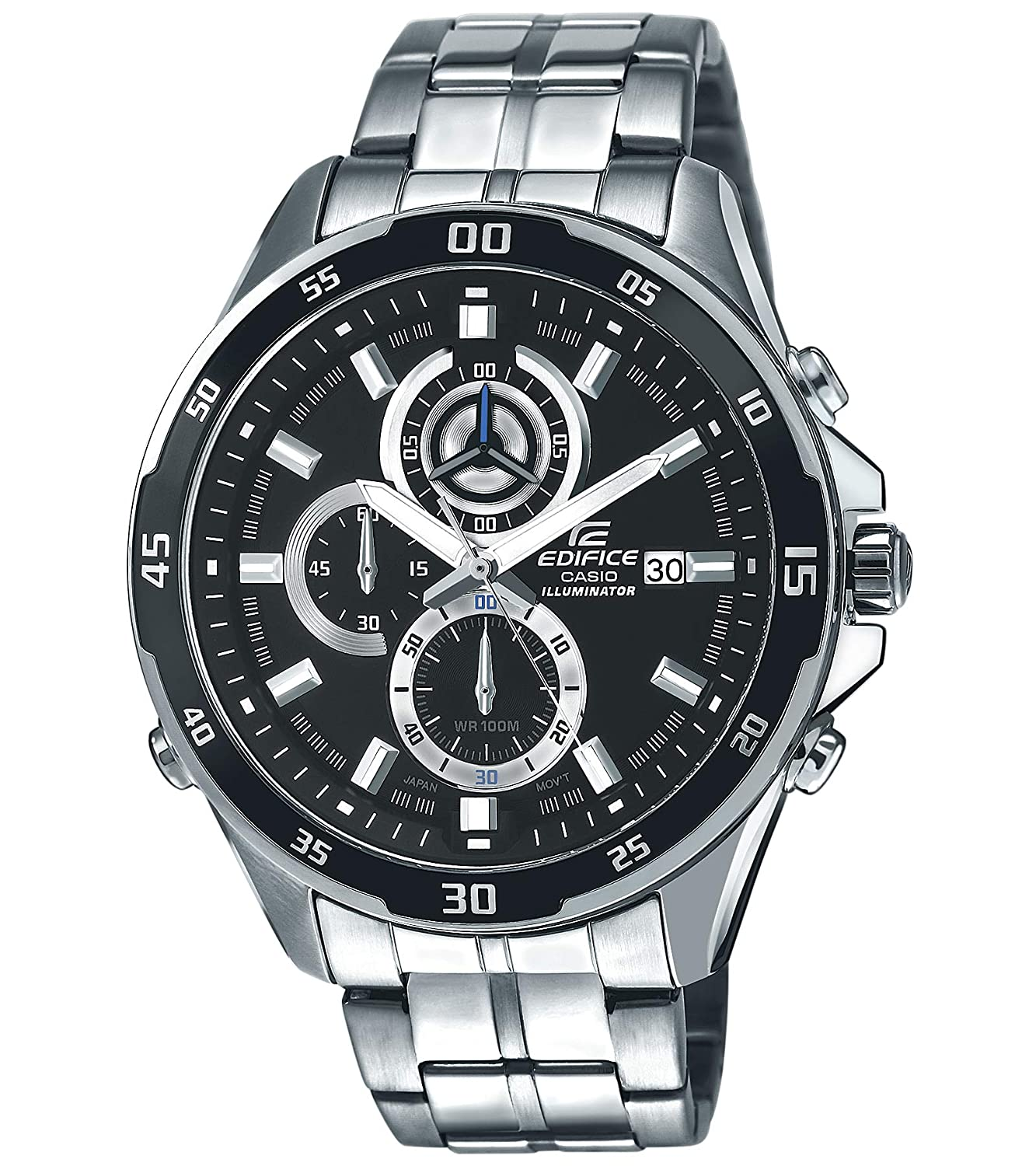 Buy Casio Edifice Chronograph Black Dial Mens Watch Efr 547d 1avudf Ef 547l 1av Ex238 Online At Low Prices In India