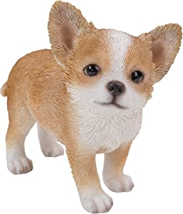 Pacific Giftware Realist Look Chihuahua Puppy Standing Resin Figurine Statue