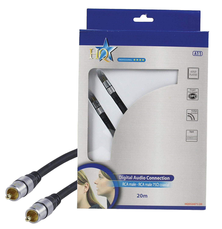 HQ Audio Cable RCA Plug to RCA Plug 20m [HQSS3471/20]: Amazon.es: Electrónica
