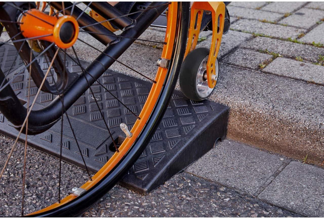 Rampes de s/écurit/é Rampes Gourmandes,Lusure Slope Pad Magasin Tampon Dentr/ée Tampon De Rampe Bicycle Wheelchair Service Ramps Hauteur 12 CM Rampes de seuil Size : 100*30*12CM