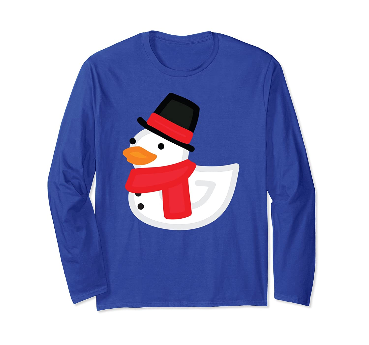 Christmas Duck Shirt - Funny Rubber Snowman Duckling Shirt-AZP