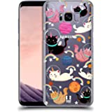 Head Case Designs Cat Space Unicorns Hard Back Case for Samsung Galaxy S8+ / S8 Plus