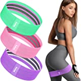 Bitjoy Resistance Bands Set for Women and Men, Upgraded Non Slip Booty Exercise Bands for Butt and Legs, Elastic Fabric Worko