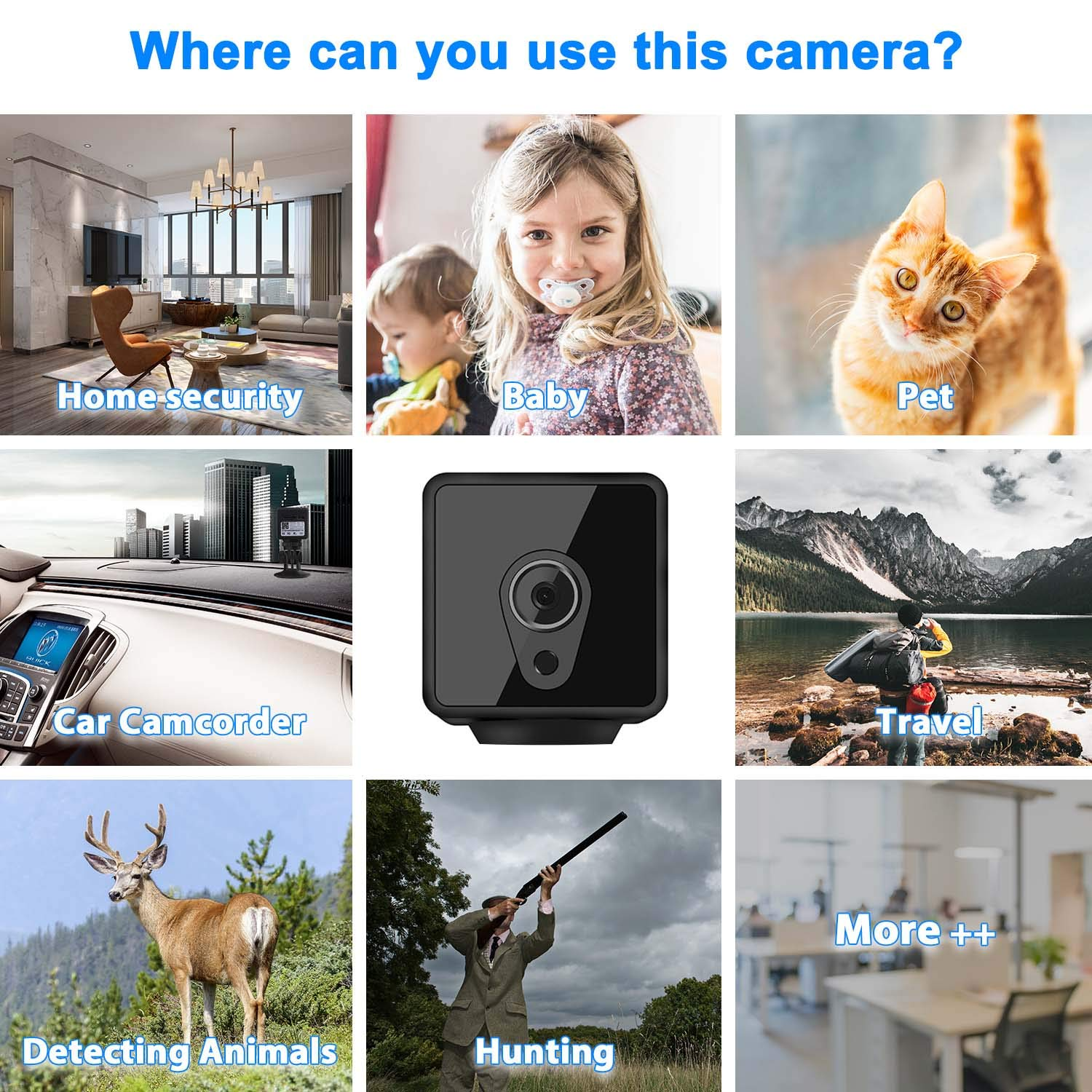 Mini Spy Camera Wireless Hidden Relohas HD 1080 Spy Hidden Camera Live Streaming Small Security