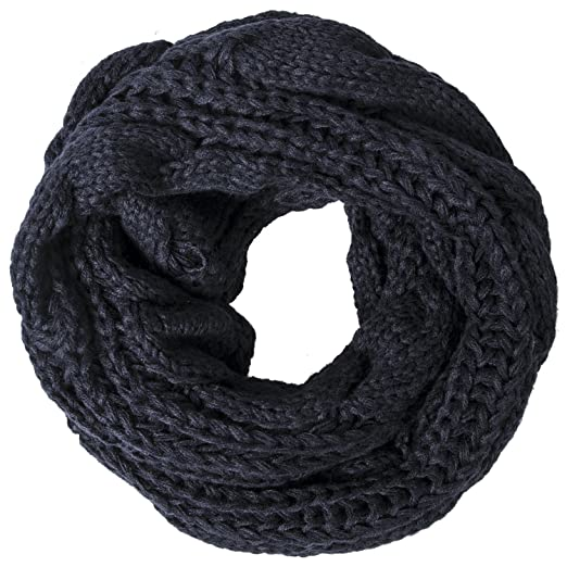 Loritta Womens Winter Warm Ribbed Thick Knit Infinity Scarf Circle