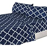 Amazon Price History for:4 Piece Bed Sheets Set (Queen, Blue) Flat Sheet + Fitted Sheet + 2 Pillow Cases, Hotel Quality Brushed Velvety Microfiber, Wrinkle, Fade & Stain Resistant - Luxurious, Comfortable, Breathable, Soft & Extremely Durable - By Utopia Bedding