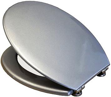Toilettendeckel Deckel Wc Sitz Toilettensitz Antibakteriell Grau