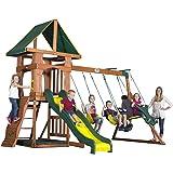 Backyard Discovery Santa Fe All Cedar Wood Playset Swing Set