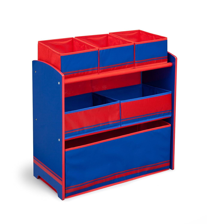 Aufbewahrungsmöbel aus Holz (Blau Rot)