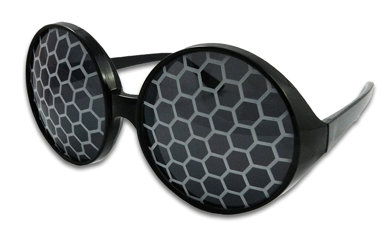 Bumble Bee Sunglasses Bug Eye Glasses (Yellow) FancyPants FunTime
