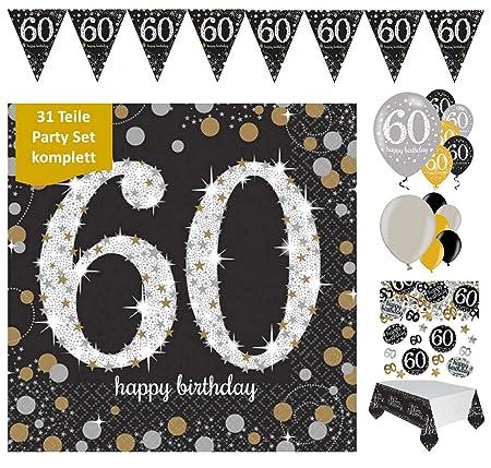 Feste Feiern - Juego para celebración de 60 cumpleaños ...