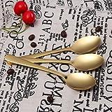 Buyer Star 12 Pcs Demitasse Espresso Spoons, Gold