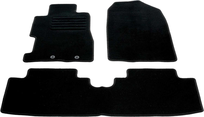 Auto Fu/ßmatten Velours mit Logo Set 3-teilig passgenau schwarz