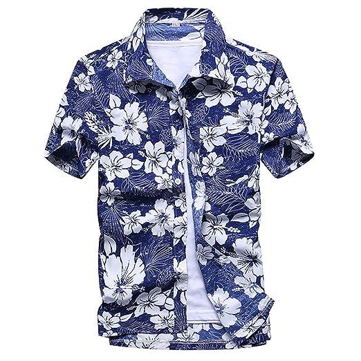 4e50c20727594 Rising ON Shirts Mens Summer Shirt Brand Slim Fit Short Sleeve Floral  Shirts Casual Holiday Party Clothing Camisa Hawaiana at Amazon Men's  Clothing store:
