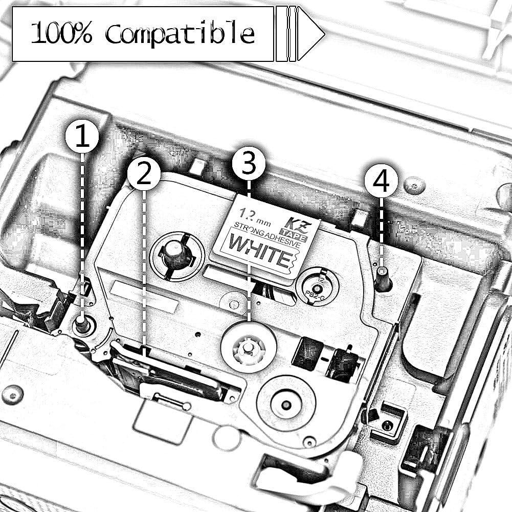 15x TZe261 TZe 261 Nero su Bianco 36 mm x 8 m Cassetta Nastro per Etichette compatibile per Brother P-Touch PT-3600 530 550 9200PC 9200DX 9400 9500PC 9600 9700 9700PC 9800 9800PCN D800W P900W P950NW