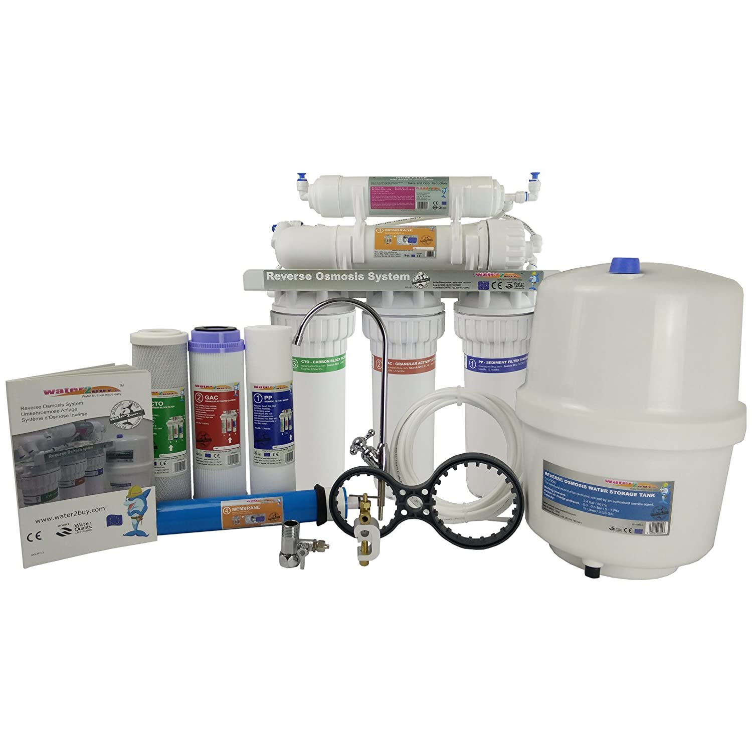 Water2Buy RO500 Reverse Osmosis Water Filter System Build for UK home Removes up to 98% contaminants *****