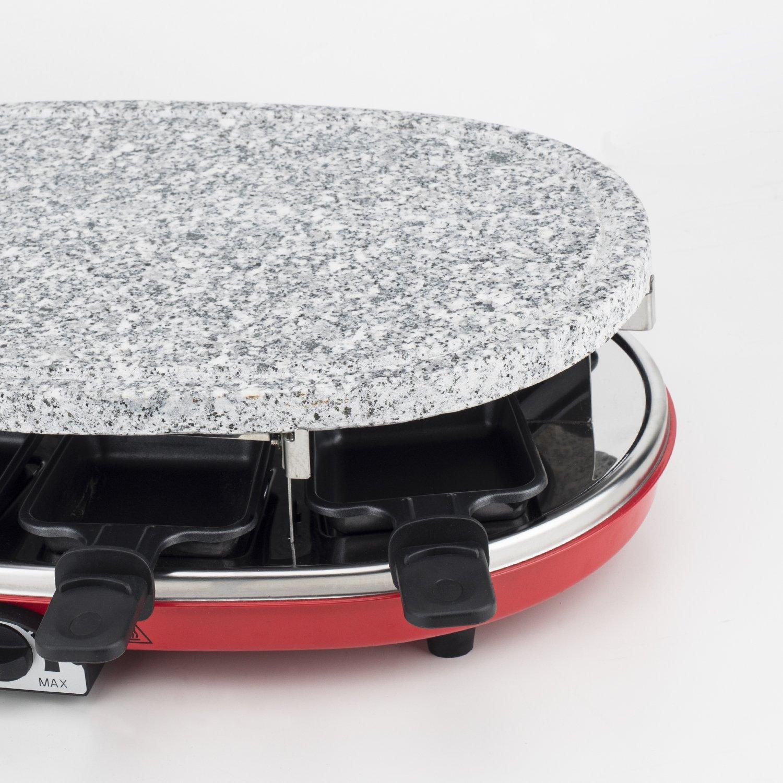 H.Koenig RP418 Appareil à Raclette 4 en 1 Rouge