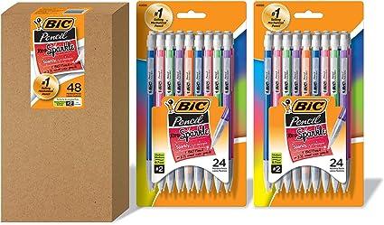 BIC Xtra-Sparkle - Portaminas, color 0.7mm 48 pack: Amazon.es: Oficina y papelería