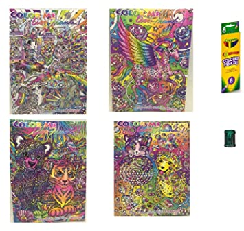 Amazon.com: 4 - Lisa Frank Adult Color Me Coloring Books, Coloring ...