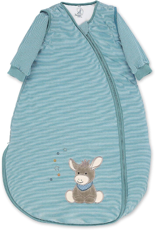 Tama/ño: 90 cm Termorregulaci/ón Mangas amovibles Sterntaler Saco de dormir de beb/é Burro Emmi Multicolor Con Cremallera
