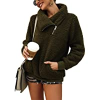 Romanstii Womens Fleece Pullover Warm Sweatshirt 1/4 Zip Outwear Jacket(S-XXL)