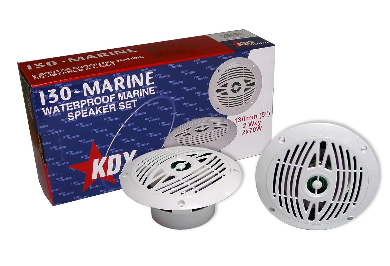 Kdx Audio KIN183147 - Kit de Altavoces Marinos (90W, 80-22000 Hz) Blanco