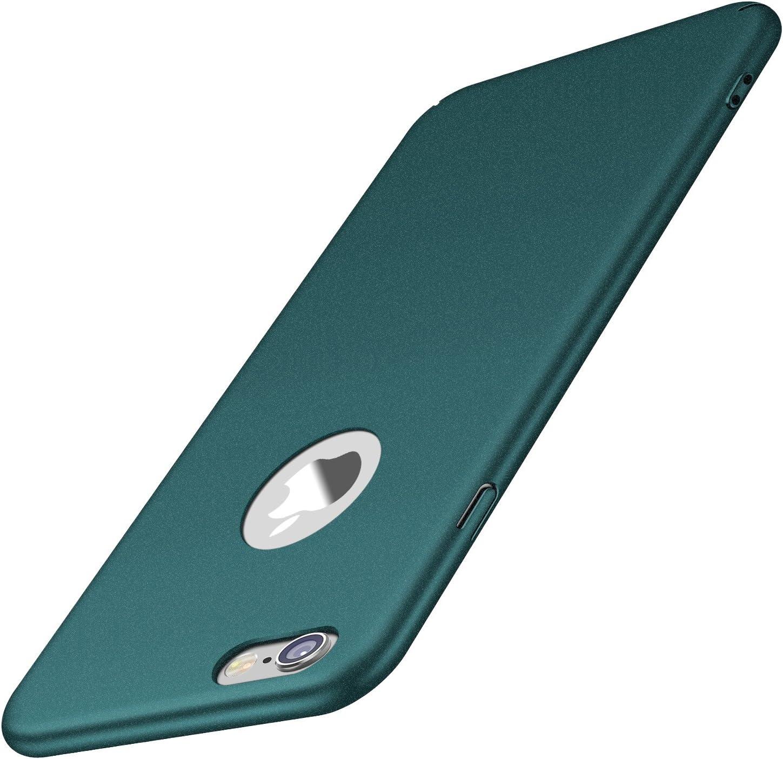 Arkour Compatible with iPhone 6S Plus Case, iPhone 6 Plus Case, Minimalist Excellent Grip Non-Slip Hard Slim Cover for iPhone 6 Plus/6S Plus (Gravel Green)