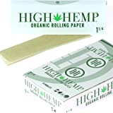 Full Box 25 Booklet High Hemp Organic Rolling Paper 1 1/4 1.25