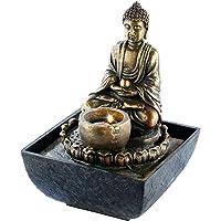 infactory Zierbrunnen: Beleuchteter Zimmerbrunnen mit Buddha (LED-Zimmerbrunnen)