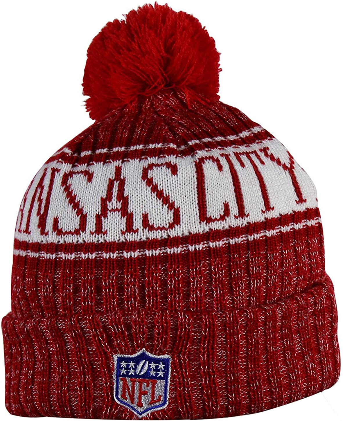 KC Adult Winter Knit Beanie Hat With Removable Pom Pom One Size Fits Most Multicolor