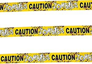 Fun Express 1 Caution Zombies Party Tape Roll, 20'