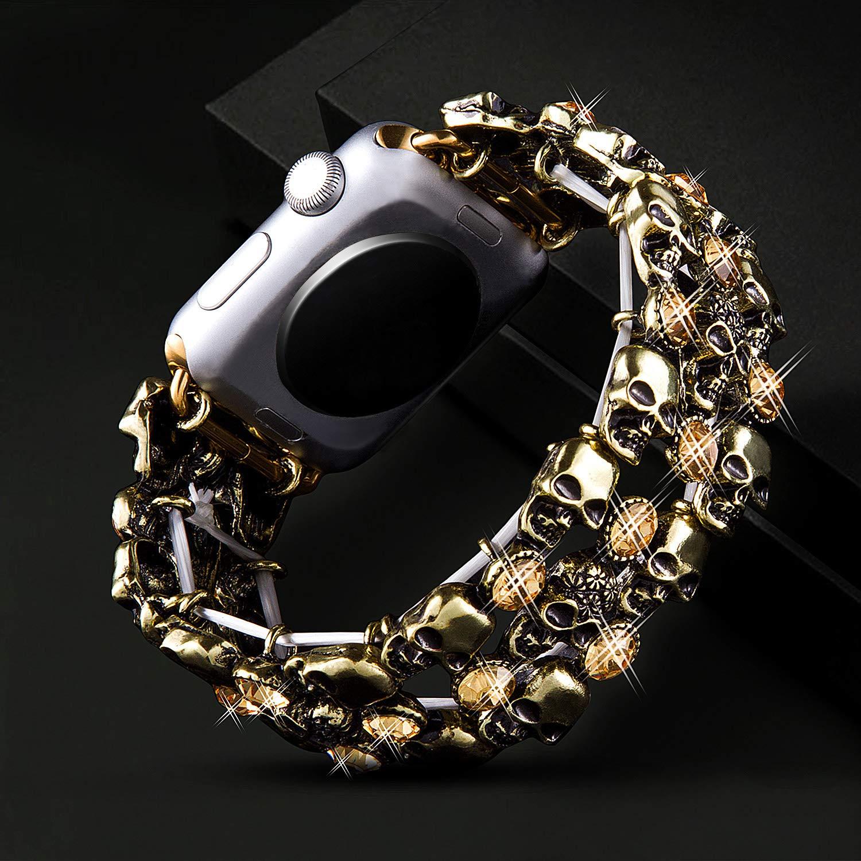 Amazon.com: VIQIV - Bandas de calavera para Apple Watch ...