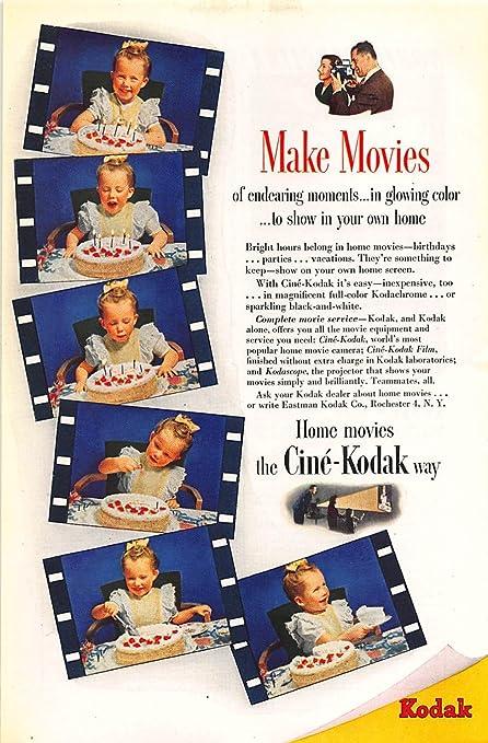 Amazon com: Print Ad 1946 Kodak Home movies the Cine-Kodak