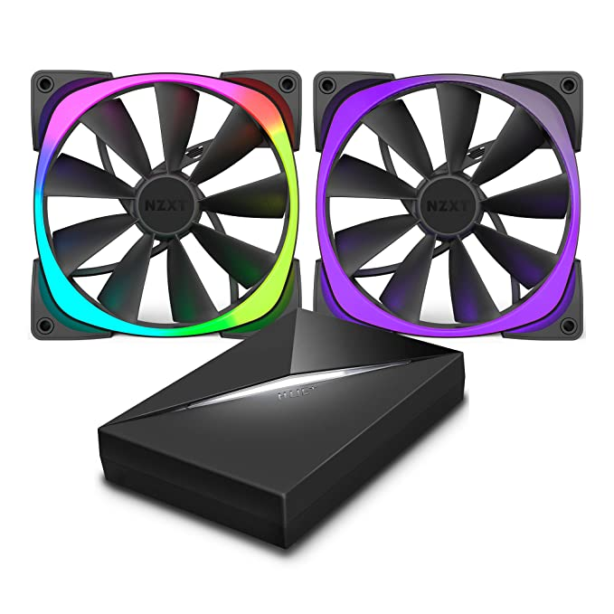 4 opinioni per NZXT Aer RGB & HUE+ Computer case Fan- Computer Cooling Components (Computer