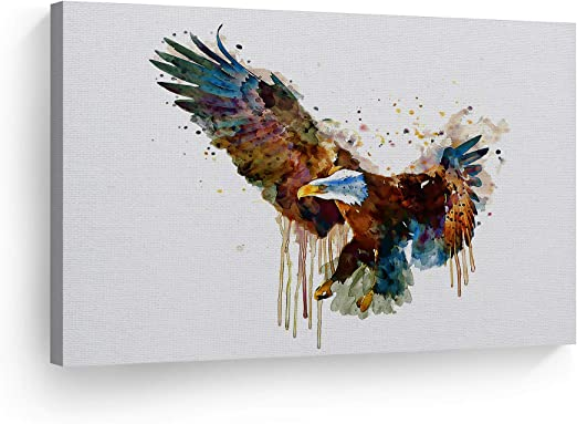 EAGLE ABSTRACT CANVAS PRINT PICTURE WALL ART HOME DECOR FREE DELIVERY