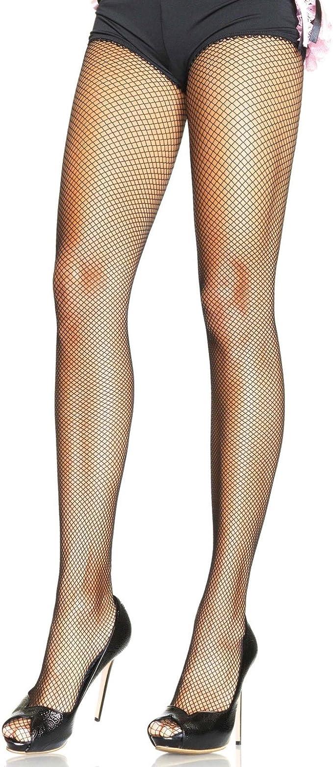 Leg Avenue Spandx Fishnet Pantyhose 9013 Stockings Tights Black White Beige Red