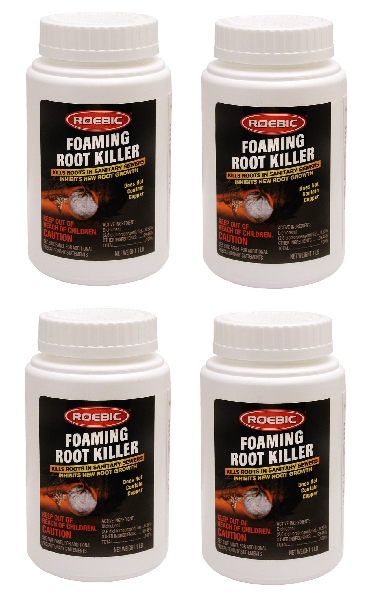 Roebic FRK Foaming Root Killer, 1-Pound (4, 1 lb)