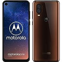 Motorola One Vision Dual-Sim Smartphone (6, 3 Zoll Display, 48-MP-Sensor, 12-MP- + 5-MP-Dual-Kamera, 128 GB/4 GB, Android 9.0) Bronze + Schutzcover [Exklusiv bei Amazon]