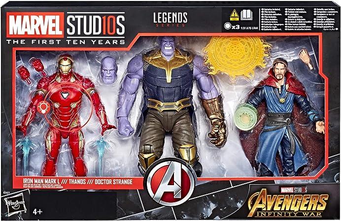 Hasbro accion Marvel Pack 3 Figuras Thanos & Iron Man & Dr Strange, Multicolor (E2451E49): Amazon.es: Juguetes y juegos