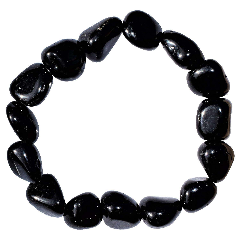 CHARGED Natural Black Obsidian Crystal Bracelet Tumble Polished Stretchy HEALING ENERGY/GROUNDING / GRIEVING BRACELET REIKI by ZENERGY GEMS ZENERGY GEMS™